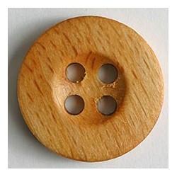 Holzknopf hellbraun - Dill 20 mm