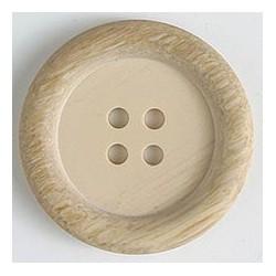 Polyesterknopf beige- holzoptik hell, 23 mm - Dill