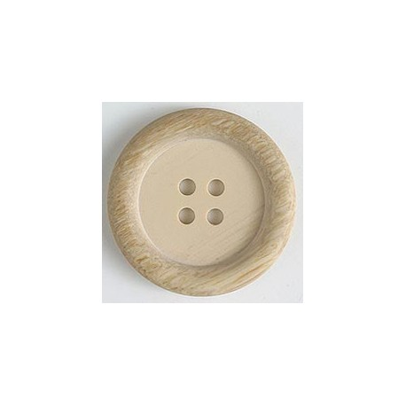 Polyesterknopf beige - Dill 23 mm_10012