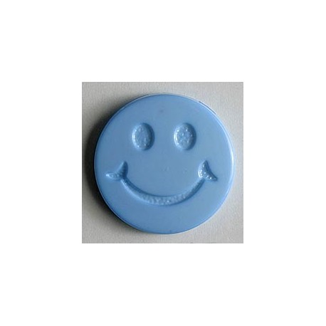 Kinderknopf Smiles  - Dill (1 Stk.) 19 mm, 560 - hellblau_10077