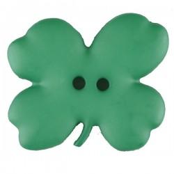 Kinderknöpf Kleeblat 23 mm grün - Dill