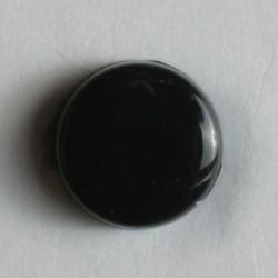 Knopf schwarz mit Öse, 7 mm - Dill