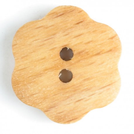 Holzknopf Blume, 20mm - Dill_11712