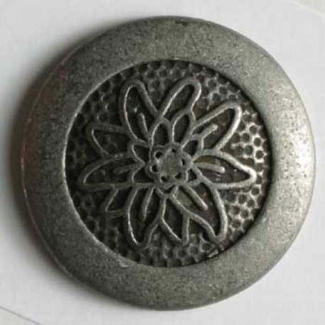 Metallknopf Edelweiss, 23 mm - Dill_12074