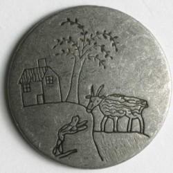 Metallknopf Ziege, 20 mm - Dill_12078