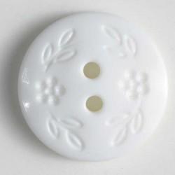 Knopf Blumenzierde weiss 11 mm - Dill