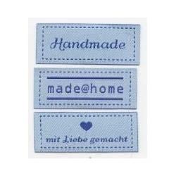 Handmade Label - hellblau