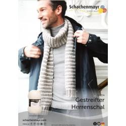 Gestreifter Herrenschal - Gratis Anleitung_13444