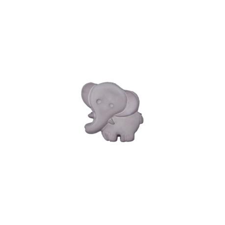 Elefant Knopf grau mit Öse 19 mm - Union Knopf_14235