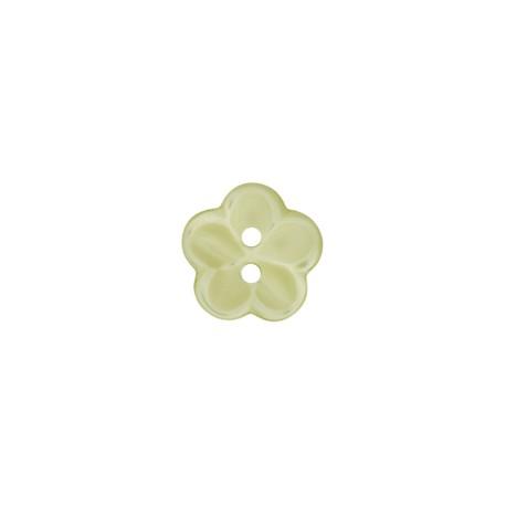 Polyesterknopf Blume grün 12 mm - Union Knopf_14237