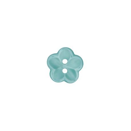 Polyesterknopf Blume lagune 12 mm - Union Knopf_14241