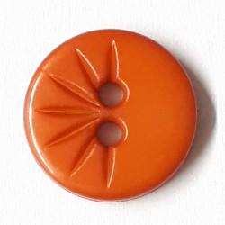 Knopf rund mit verzierung, karamell 13 mm - Dill