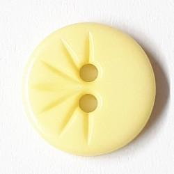 Knopf rund mit verzierung, vanille 13 mm - Dill
