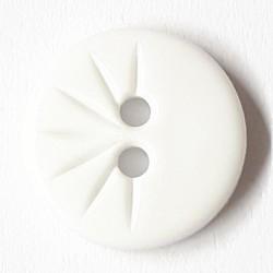 Knopf rund mit verzierung, weiss 13 mm - Dill