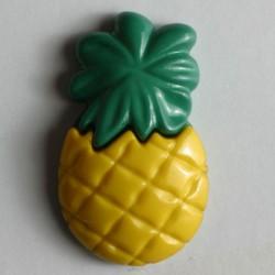 Knopf Ananas gelb, mit Öse 25 mm - Dill