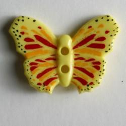 Knopf Schmetterling gelb, 28 mm - Dill_14569