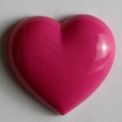 Kinderknopf Herz mit Öse pink, 14 mm - Dill