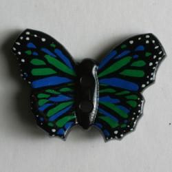 Knopf Schmetterling grün, 28 mm - Dill_14610