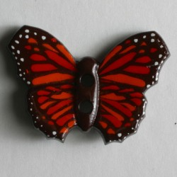 Knopf Schmetterling rot, 28 mm - Dill_14611
