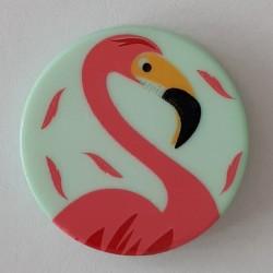 Knopf Flamingo mint, mit Öse 15 mm - Dill