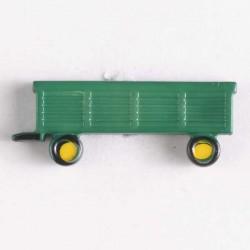 Kinderknopf Traktor- Anhänger grün, 29 mm - Dill_14619
