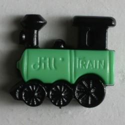 Knopf Lokomotive grün, 20 mm - Dill_14620