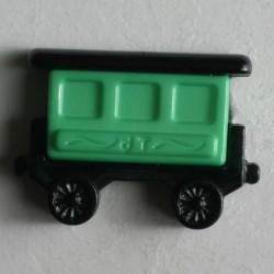 Knopf Wagon grün, 20 mm - Dill_14621