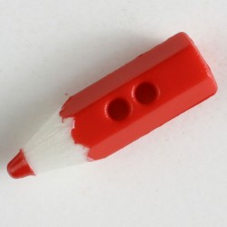 Knopf Farbstift rot, 18 mm - Dill_14624