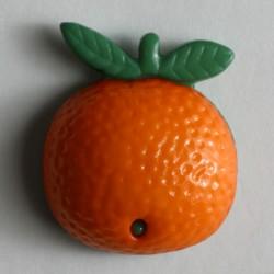 Knopf Orange mit Öse 18 mm - Dill