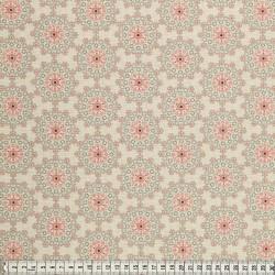 Stoffcoupon Blumen natur - MEZfabrics_14948