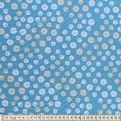 Stoffcoupon drops blau - MEZfabrics_14950