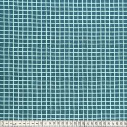 Stoffcoupon Karo smaragd - MEZfabrics_14955