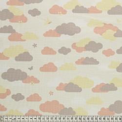Stoffcoupon Wolken creme - MEZfabrics_14962