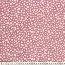 Stoffcoupon Spots berry - MEZfabrics_14964