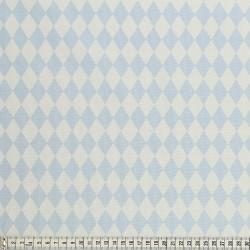 Stoffcoupon Rauten blau - MEZfabrics_14966