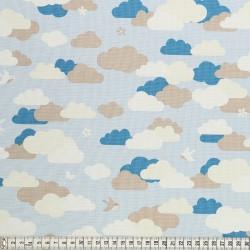 Stoffcoupon Wolken blau - MEZfabrics_14967