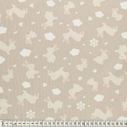 Stoffcoupon Hase ocker - MEZfabrics_14968