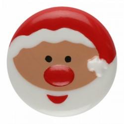 Kinderknopf Weihnachtsmann mit Öse 18 mm - Dill