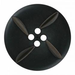 Modeknopf mit Kerben schwarz, 23 mm - Dill_15672
