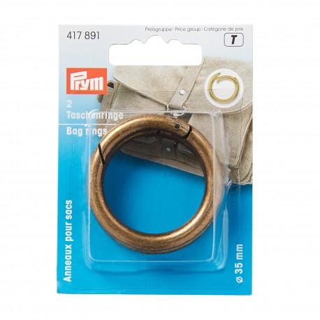 Taschenringe 35 mm, altmessing - Prym_15740
