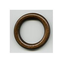 Holz Ring dunkelbraun lackiert 38 x 55mm - welticreativ