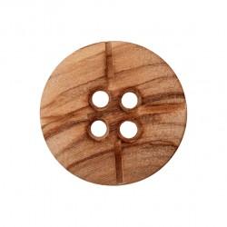 Holzknopf lasiert 4-Loch 18 mm - Union Knopf_16873