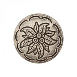 Metallknopf Edelweiss mit Öse 18 mm - Union Knopf_16875