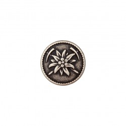 Edelweiss Metallknopf mit Öse 18 mm - Union Knopf_16884