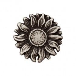 Metallknopf Blume mit Öse 20 mm - Union Knopf_16885