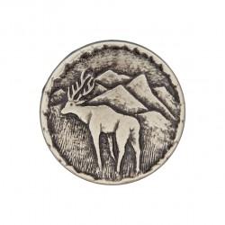 Metallknopf mit Öse Hirsch 20 mm - Union Knopf_16886