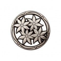 Edelweiß Metallknopf mit Öse 15 mm - Union Knopf_16887