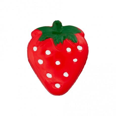 Erdbeere rot, mit Öse 21 mm - Union Knopf_17000