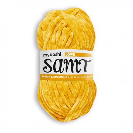 Samt - myboshi, 813 - Löwe, gelb_17037
