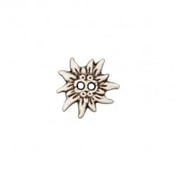 Metallknopf 2-Loch Edelweiss 20 mm - Union Knopf_17713
